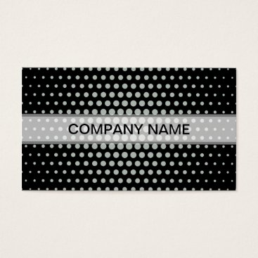 Professional Business Ash grey Techno Dots Modern Black Business Card