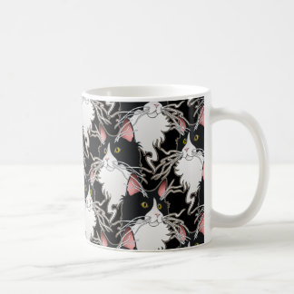 Ash, kitty with the whiskers classic white coffee mug