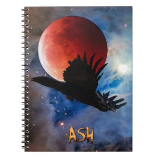 ASH Mystical Raven & Eclipsed Moon Notebook