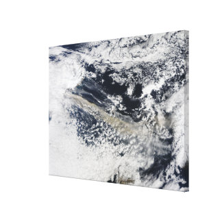 Ash plume from Eyjafjallajokull Volcano Canvas Print