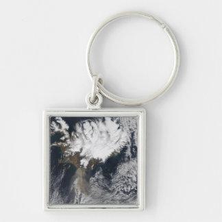 Ash plume from Eyjafjallajokull Volcano, Icelan Keychain