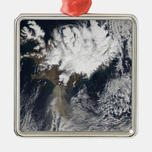 Ash plume from Eyjafjallajokull Volcano, Icelan Ornaments
