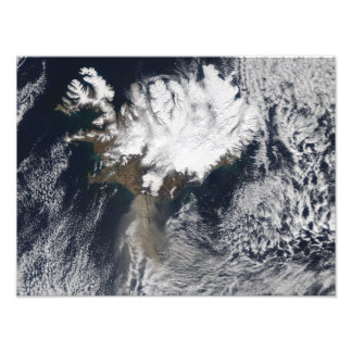 Ash plume from Eyjafjallajokull Volcano, Icelan Photographic Print