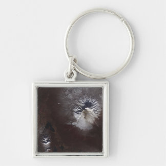 Ash stains on Russia's Shiveluch volcano�s sl Keychain