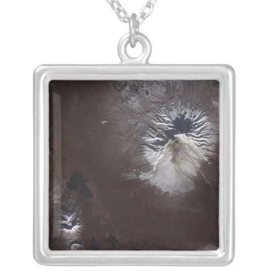 Ash stains on Russia's Shiveluch volcano�s sl Silver Plated Necklace