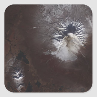 Ash stains on Russia's Shiveluch volcano�s sl Square Sticker