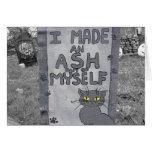 Ash Tombstone Greeting Card