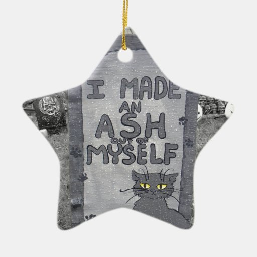 Ash Tombstone Double-Sided Star Ceramic Christmas Ornament
