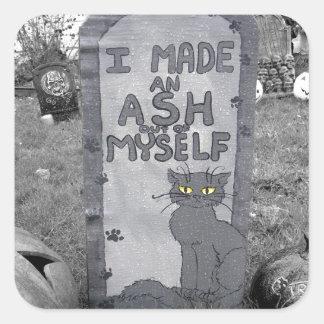 Ash Tombstone Square Sticker