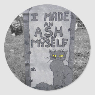Ash Tombstone Round Stickers