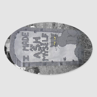 Ash Tombstone Sticker