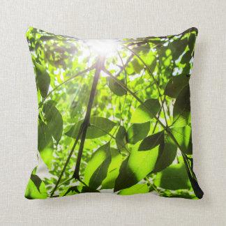 Ash Tree and Sunshine Throw Pillow