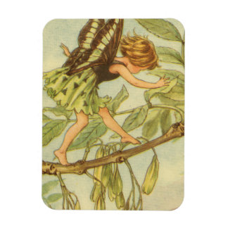 Ash Tree Fairy Walking on Branch Rectangular Photo Magnet