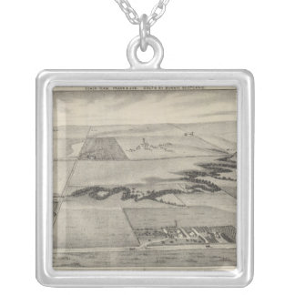 Ash Valley Stock Farm, Larned, Kansas Silver Plated Necklace