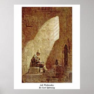 Ash Wednesday By Carl Spitzweg Print