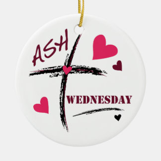 Ash Wednesday Double-Sided Ceramic Round Christmas Ornament