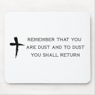 Ash Wednesday Mouse Pads