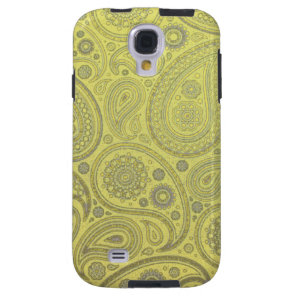 Ash white paisley on yellow background galaxy s4 case