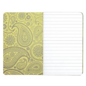 Ash white paisley on yellow background journal