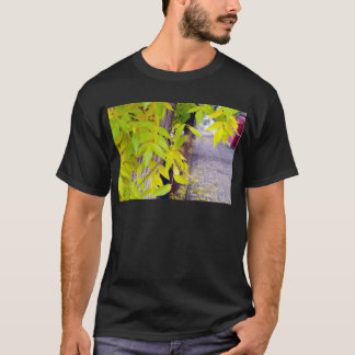 Ash with yellow leaves and pavement tiles T-Shirt