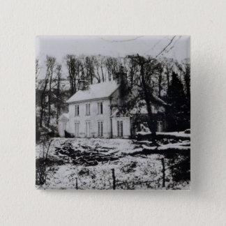 Asham House near Beddingham in East Sussex Pinback Button