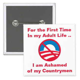 Ashamed of Countrymen Button
