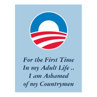 Ashamed of Countrymen Post Cards
