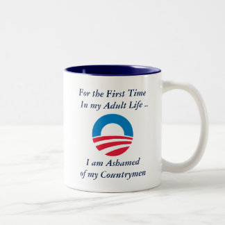 Ashamed of Countrymen Two-Tone Coffee Mug