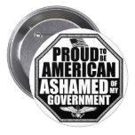 Ashamed Of My Government 3 Inch Round Button