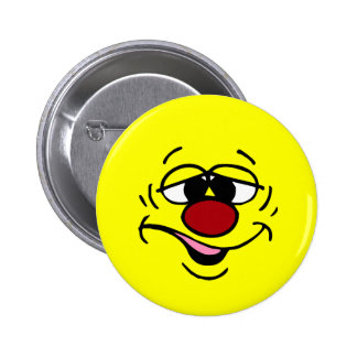 Ashamed Smiley Face Grumpey Pinback Button