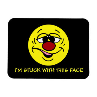 Ashamed Smiley Face Grumpey Rectangular Magnet