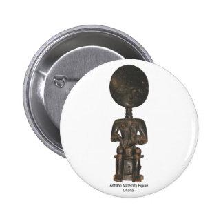 Ashanti Maternity Figure Button