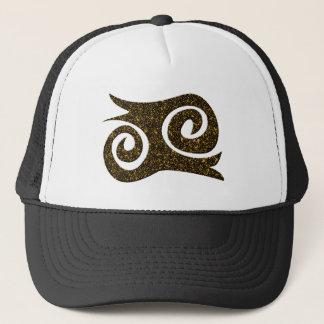 Ashanti symbol courage trucker hat