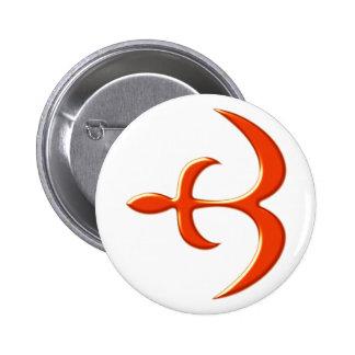 Ashanti symbol mercy protection instruction 2 inch round button