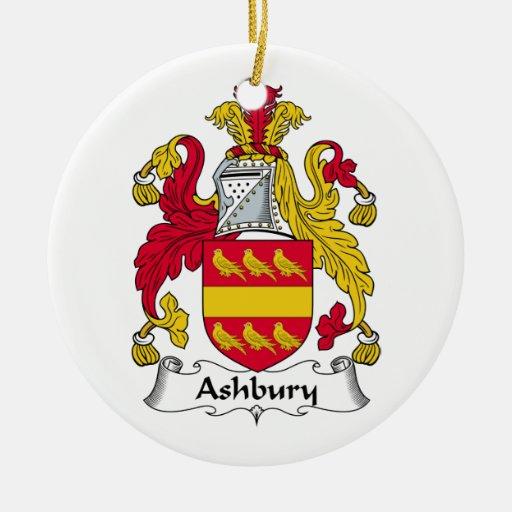 Ashbury Family Crest Christmas Tree Ornaments