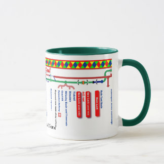 Ashby Canal Route Map UK Inland Waterways Red Mug
