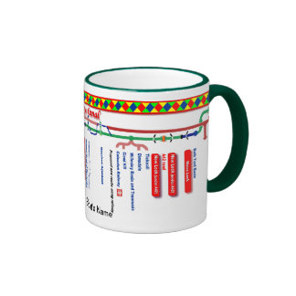 Ashby Canal Route Map UK Inland Waterways Red Ringer Mug