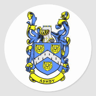 ASHBY Family Crest Classic Round Sticker