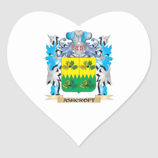 Ashcroft Coat Of Arms Heart Sticker