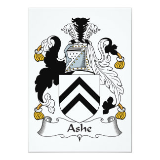 Ashe Family Crest Card
