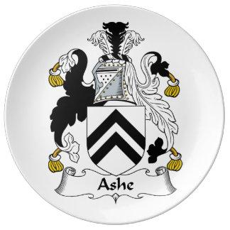 Ashe Family Crest Porcelain Plate