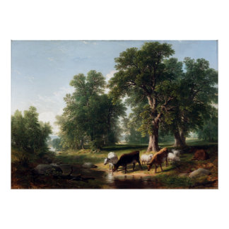 Asher Brown Durand Summer Afternoon Poster