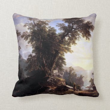 Beach Themed Asher Brown Durand The Indian's Vespers Throw Pillow