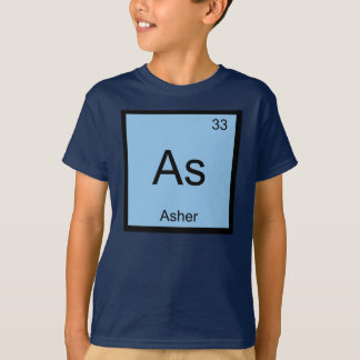 Asher Name Chemistry Element Periodic Table T-Shirt