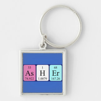 Asher periodic table name keyring key chain