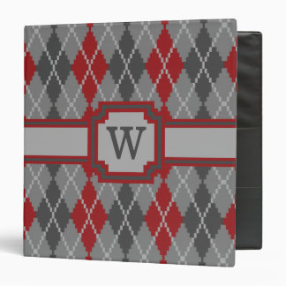 Ashes and Embers Argyle Binder