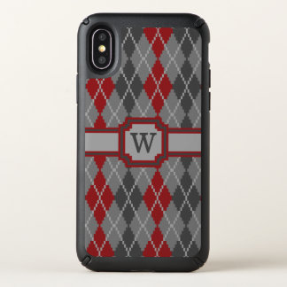 Ashes and Embers Argyle Speck Phone Case