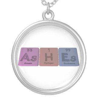 Ashes-As-H-Es-Arsenic-Hydrogen-Einsteinium Round Pendant Necklace