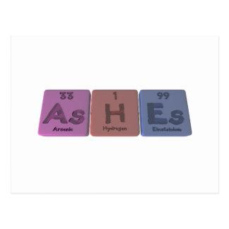 Ashes-As-H-Es-Arsenic-Hydrogen-Einsteinium Postcard