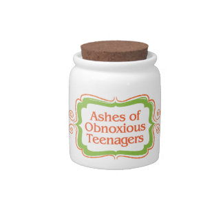 Ashes of Obnoxious Teenagers Jar Candy Dish